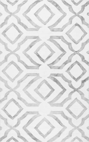 Nuloom Hand Looped Baggett Grey Area Rug