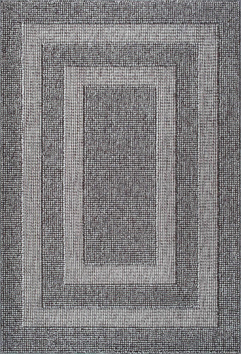 Nuloom Mosby Border Dark Grey Rug Studio