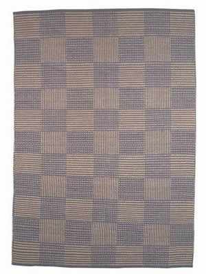 ORG Natural Weaves Jp-72 Plaid Blue Area Rug