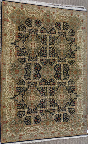 ORG Antiqued Jaipur Grt-98 Black And Gold Area Rug