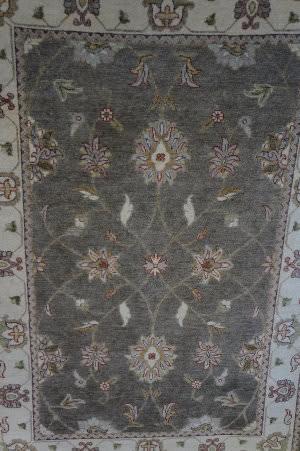ORG Indo-Peshawar Kashan Gray - Beige Area Rug