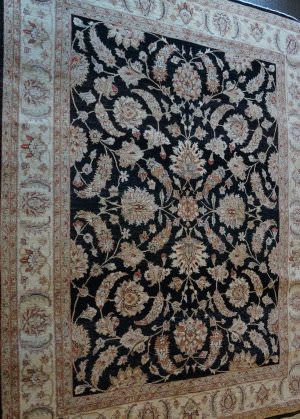 ORG Peshawar Ult-200 Black And Beige Area Rug