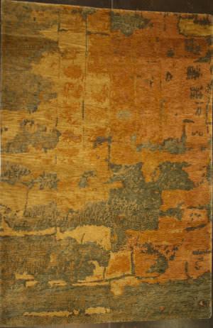 ORG Premium Tibetan Tile Moss Brown Area Rug