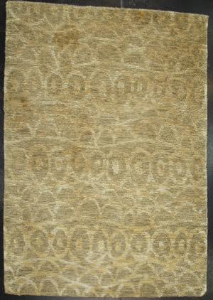 ORG Premium Tibetan Dizzle 829 Da07 1300 Silk Sam Green Area Rug