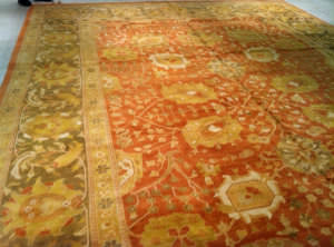 ORG Antique Reproduction Sm-150 Brown And Olive Area Rug