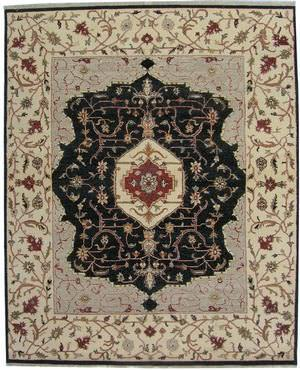 ORG Indo-Persian 909 Black-Beige Area Rug