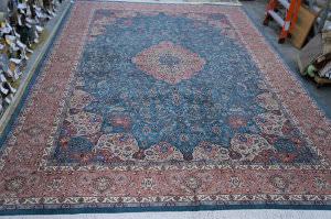 Org 16/18 Shah Abbas Floral Blue Area Rug