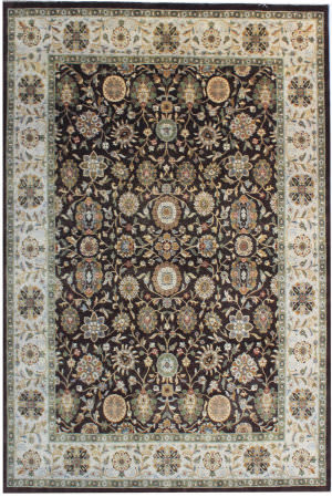 Org Indo-Peshawar D-114 Coffee - Light Gold Area Rug