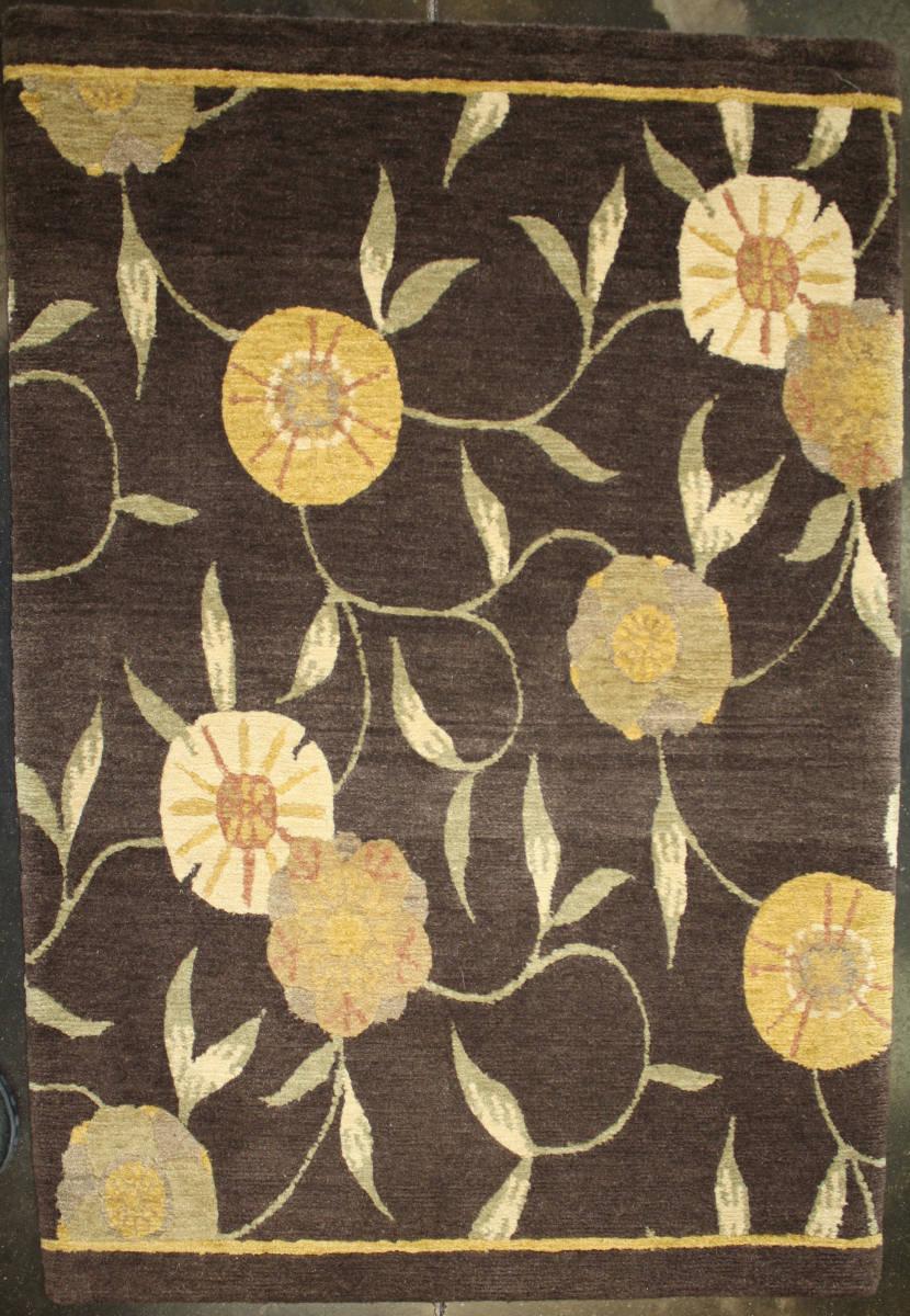 Org premium tibetan poppy brown area rug last chance 131187 mightylinksfo