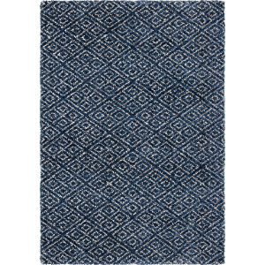 Orian Angora Mini Diamonds Navy Area Rug