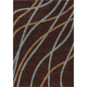 Orian Shag-Ri-La Liberty Chocolate Area Rug
