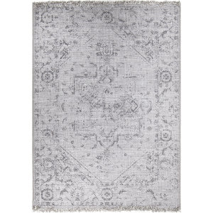 Orian Tweed Center Of Attention Gray Area Rug