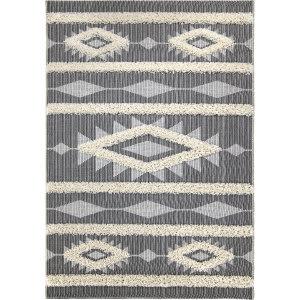 Orian Navajo Sacred Dwelling Black Area Rug