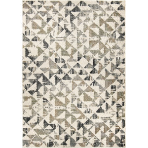 Orian Reflections Trident Soft White Area Rug
