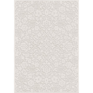 Orian Boucle Cottage Floral Natural Area Rug