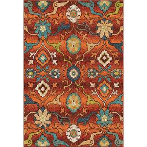 Orian Spoleto Tibet Red Area Rug