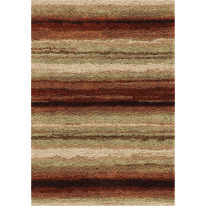 Orian Impressions Shag Sundown Red Area Rug