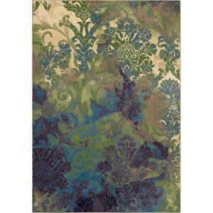 Orian Mardi Gras Flotty Bone Area Rug