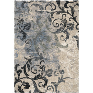 Orian Portland Distressed Muted Blue Area Rug