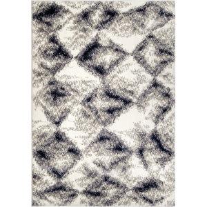 Orian Angora Digital Stone White Area Rug