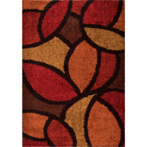 Orian Shag-Ri-La Bloom Petal Rouge Area Rug