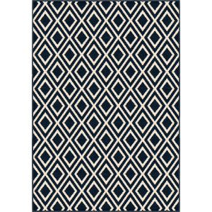 Orian Farmhouse Trellis Catalina Blue Area Rug