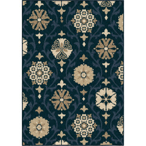 Orian Four Seasons Chico Catalina Blue Area Rug