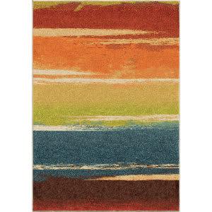 Orian Spoleto Brushed Stripe Multi Area Rug