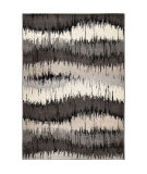 Orian American Heritage Brushed Waves Gray Area Rug