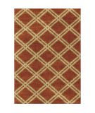 Orian Majestic Shag Concentric Diamonds Rouge Area Rug