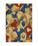 Orian Mardi Gras Fox Glove Multi Area Rug