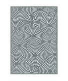 Orian Boucle Soundwaves Harbor Blue Area Rug