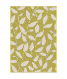 Orian Veranda Summer Leaves Green Area Rug
