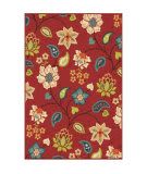 Orian Veranda Garden Chintz Red Area Rug