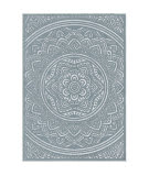 Orian Farmhouse Mandala Harbor Blue Area Rug