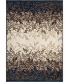 Orian Farmhouse Leafy Layers Catalina Blue Area Rug