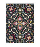 Orian West Village Eve Garden Navy Area Rug