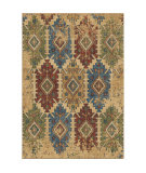 Orian Bohemian Distressed Borego Medallion White Area Rug
