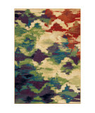 Orian Mardi Gras Watercolor Trellis Multi Area Rug