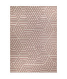 Orian Jersey Home Hexabulous Blush Area Rug