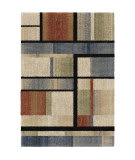Orian Wild Weave Mid-Century Blocks Sunshine Area Rug