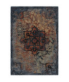 Orian Wild Weave Distressed Kirman Sunshine Area Rug
