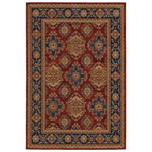 Oriental Weavers Ankara 1802r Red - Blue Area Rug