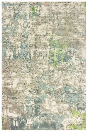 Green Abstract Rug At Rug Studio