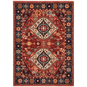 Oriental Weavers Lilihan 2061v Red - Blue Area Rug