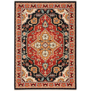 Oriental Weavers Lilihan 4929a Black - Red Area Rug