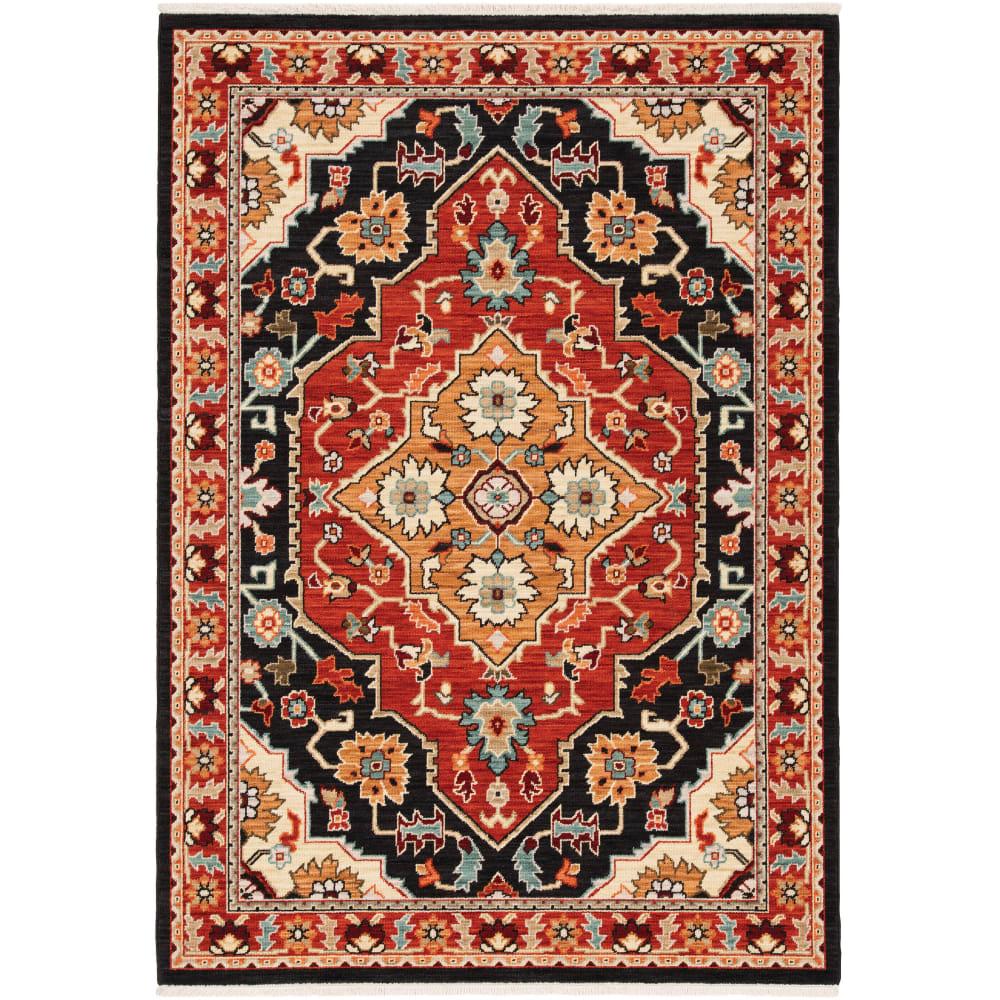Oriental Weavers Lilihan 4929a Black Red Rug Studio