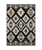Oriental Weavers Georgia 605f0 Charcoal - Ivory Area Rug