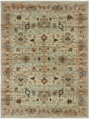 Oriental Weavers Anatolia 8020h Blue - Gold Area Rug