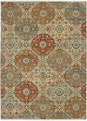 Oriental Weavers Anatolia 090e3 Sand - Rust Area Rug